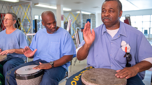 Drumming at Chuckawalla Valley State Prison - 2018 July