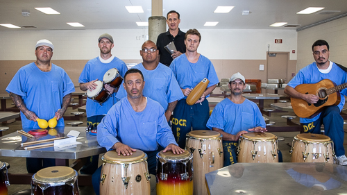 Latin drumming at Avenal State Prison - 2018 May