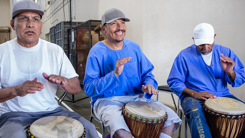 African drumming at Avenal State Prison - 2018 May