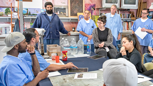Visual Art Classes at Lancaster State Prison - 2017 April