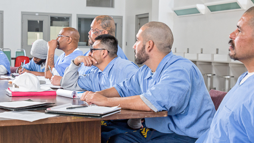 Poetry Class at Salinas Valley State Prison - 2017 Feb.