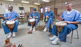 Drumming at Valley State Prison - 2015 Dec.