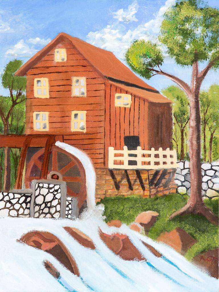 Old Mill; A. Ott; 2015; acrylic; 11x14 inches