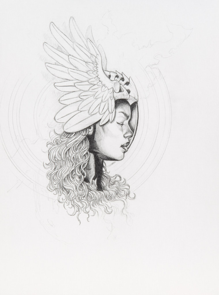 untitled (work in progress); Dana P. Harper II; 2015; acrylic; 9x12 inches