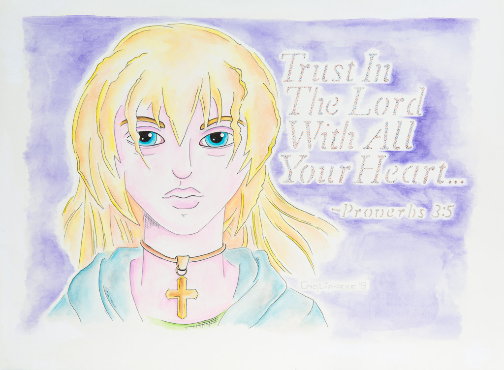 Trust; Gregory A. Coglianese; 2013; watercolor and pen; 11x15 inches