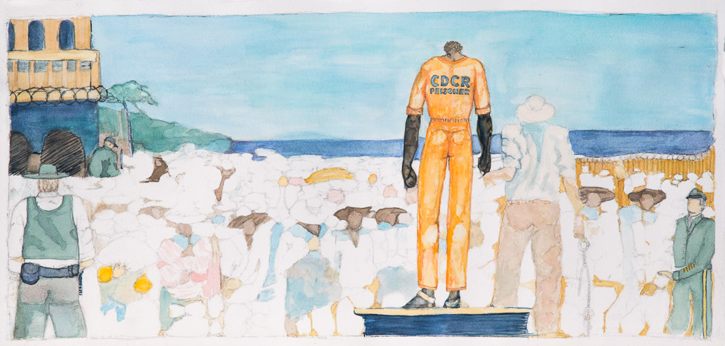 Mass Incarceration (work in progress); William M. Palmer II; 2015; water color; 10x21.5 inches