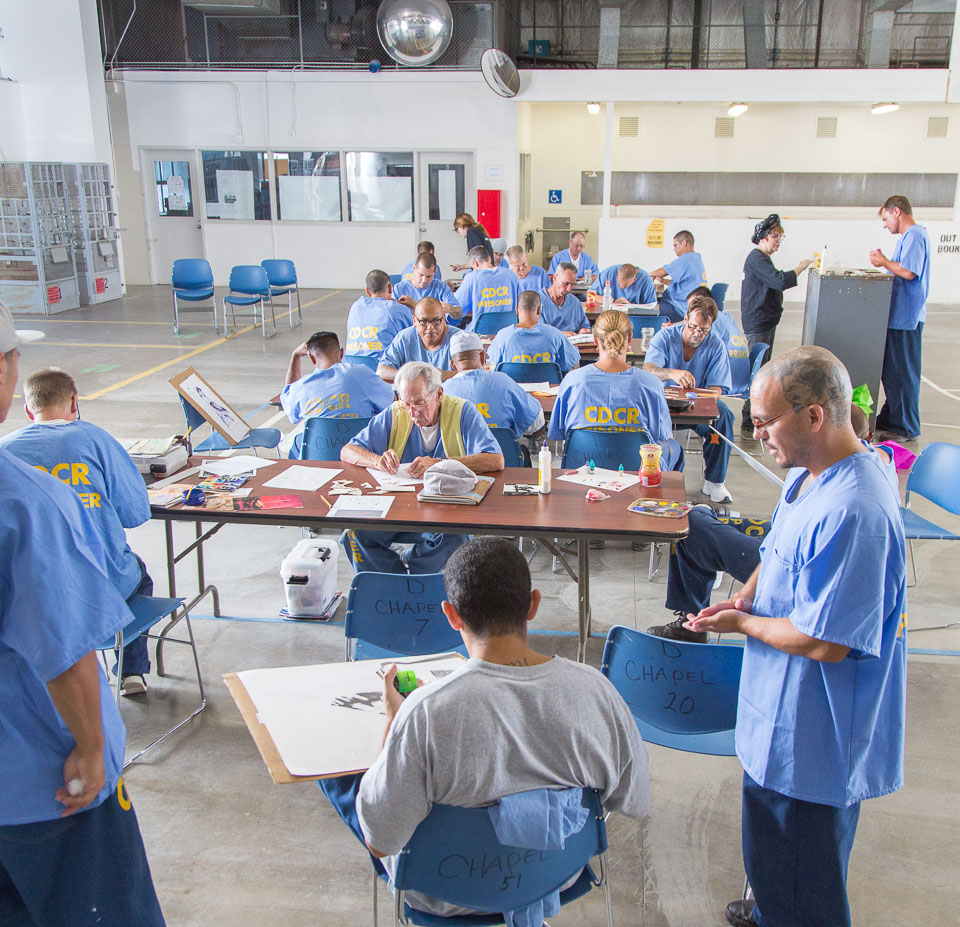 Project PAINT class at Donovan State Prison; July 2015.