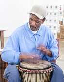 Drumming at Salinas Valley State Prison - 2015 June