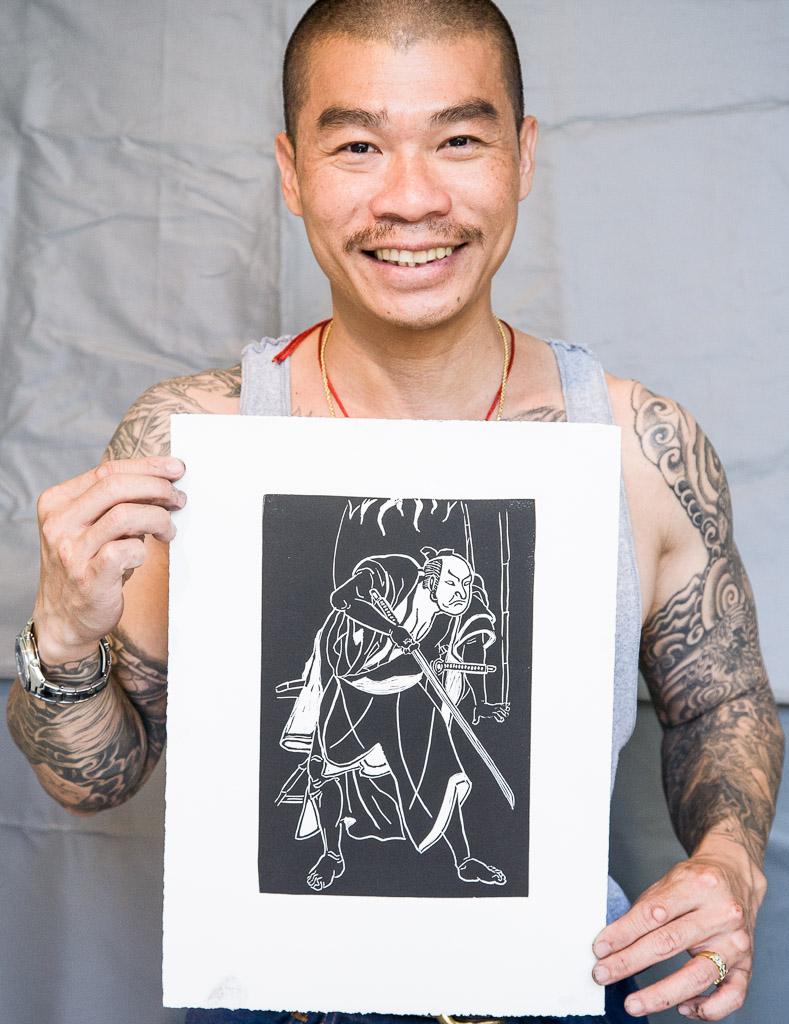 untitled, M. Tan Tran, block print